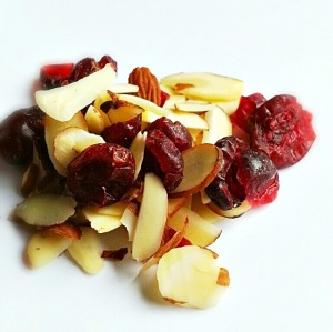dried cranberries & almond slivers