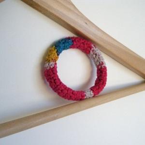 handmade crocheted bracelet in cotton
