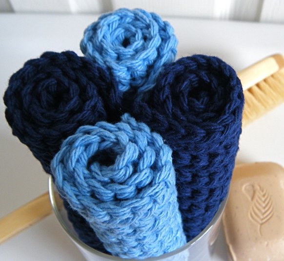 handmade crocheted washcloths