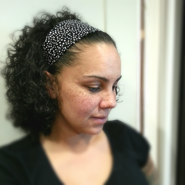 black and white polka dot headband