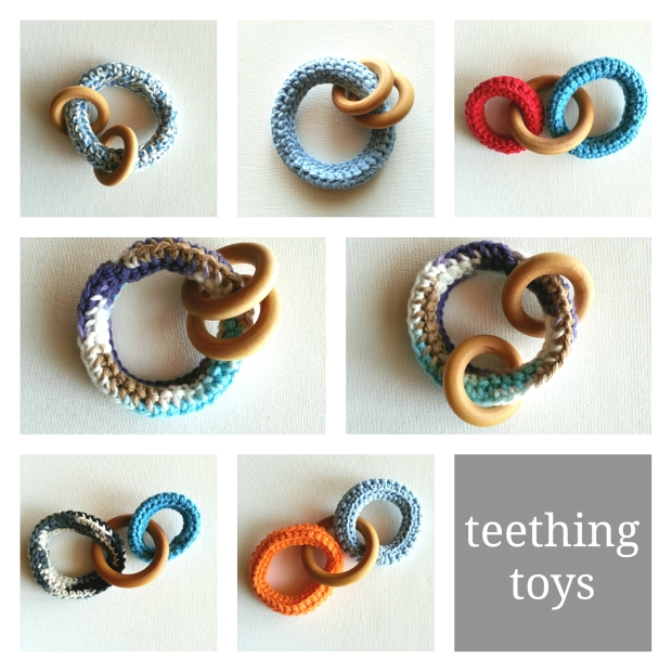 teething toys with wood rings