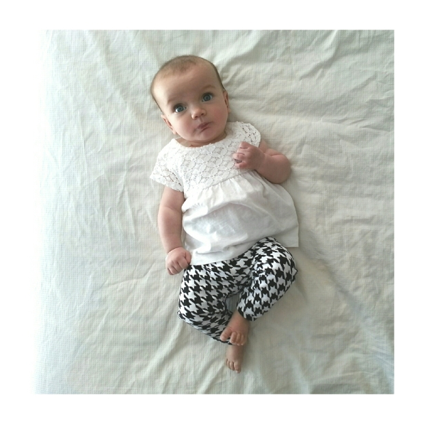 Houndstooth on Baby Keavy