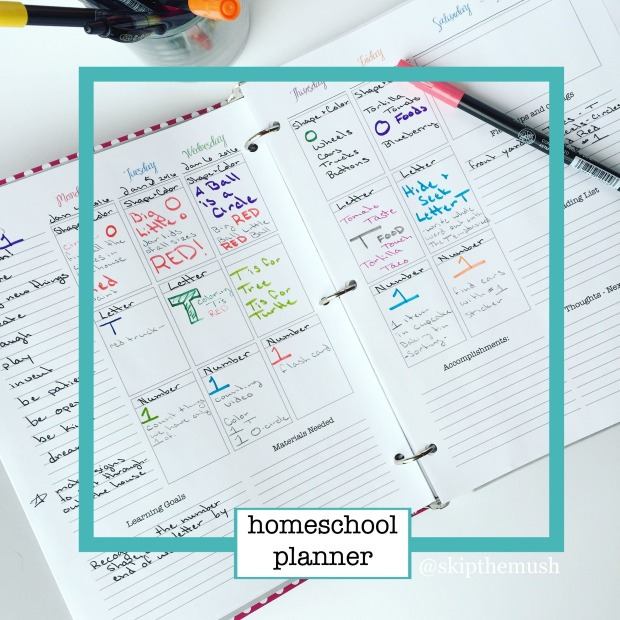 homeschool planner instagram