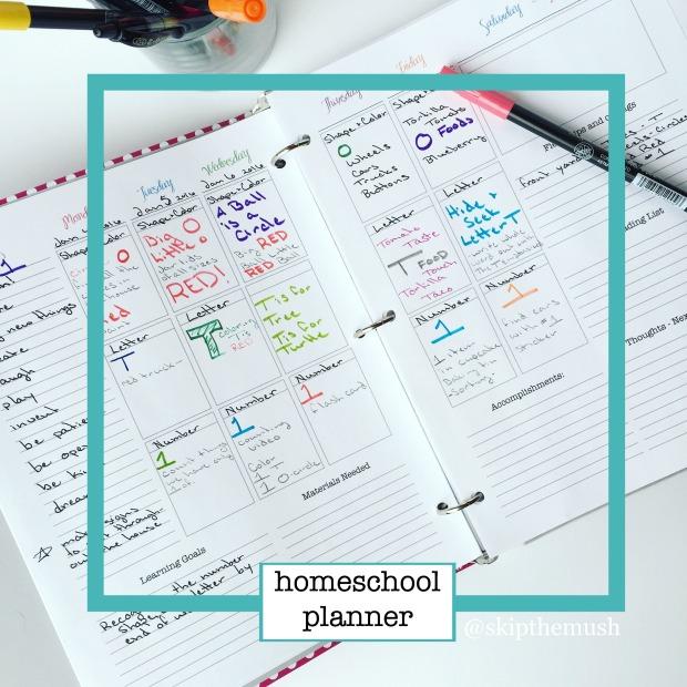 homeschool planner instagram