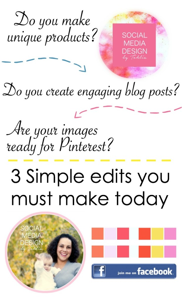 Social media design 3 edits for pinterest images