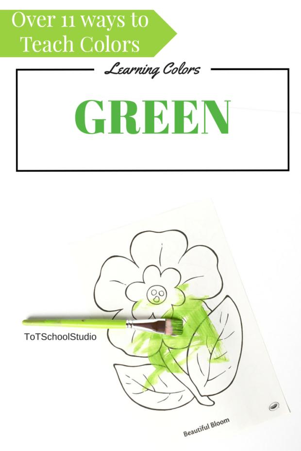 ToT School teaching the color Green 11 ways