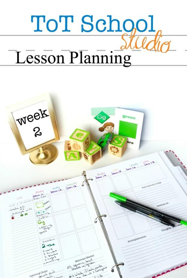 Tot School Homeschool Lesson Plan Color Green