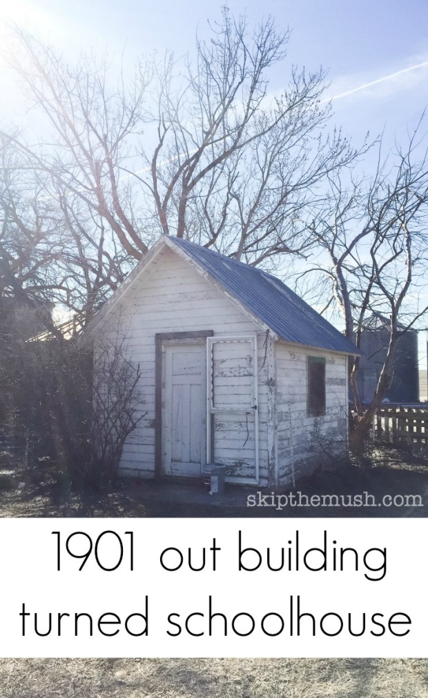1901 out building turned school house
